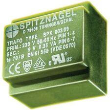 Spitznagel SPK 0380606 PCB montaggio TRASFORMATORE 230V to 2 x 6V 3.8va