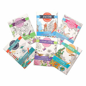Colouring Book Colour Therapy Books  Travel size Personalised Adult Colouring