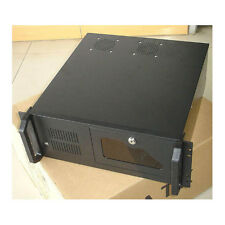 "NEW BLACK 4U RACKMOUNT SERVER CASE with USB 2.0 Ports NVR LOCK BOX? CCTV 19"" DVR"