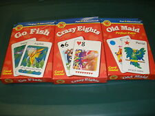 FUN AND EDUCATIONAL CARD GAMES OLD MAID, CRAZY EIGHT, GO FISH, ALL COMPLETE
