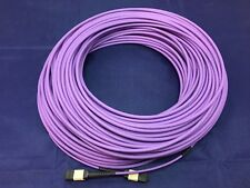 RS Pro 50m Fibre Optic Cable Assembly MTP to MTP, Multi Mode OM3 Purple