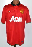 MANCHESTER UNITED 2013/2014 HOME FOOTBALL SHIRT JERSEY NIKE SIZE L ADULT