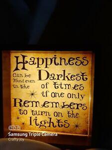 harry potter  light up box frame