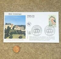 1992 FDC Envelope Masonic French Postage Stamp Chateau de Biron