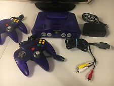 Nintendo 64 N64 Funtastic Grape Purple Console - Fast Shipping 2 Controllers Oem