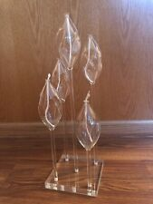 Glass Oil Lamps In Acrylic Base