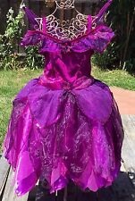 DISNEY STORE UK VIDIA TINKERBELL PURPLE FAIRY FAIRIES COSTUME DRESS GIRLS M 7 8