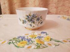 Vintage ROYAL STAFFORD bone china Coquette floral and gold gilt sugar bowl vgc