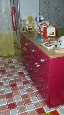 Barbie Size Dollhouse Furniture Kitchen Cabinet Countertop Utensil Drawer 1/6