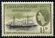 Falkland ISLANDS DEP. 1954-62 SG#G28, 1.5d QEII definitivo ship MH #D51912