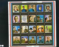 UMM AL QIWAIN 1972 Mi#1562-1581A CHARLES DE GUALLE SHEET OF 20 STAMPS MNH