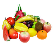 Home Decor Lifelike Decorative Plastic Artificial Fake Fruit DIY Banana Apple