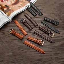 Men's Women's Genuine Leather Watch Strap Band Twister with Buckle