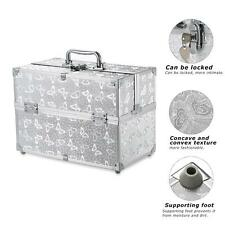 Larger Makeup Artists Case Cosmetic Extendable Train Organizer Box Locking