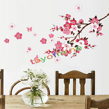 Sakura Flower Butterfly Cherry Blossom Pink Home Wall Decals Stickers Decor