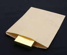 "1000 Natural Kraft 8.5x11"" Paper Merchandise Shopper Bag Grocery Shopping Bags"