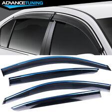 Fits 13-17 Honda Accord Sedan Polycarbonate Window Visors w/ Chrome Trim 4Pc