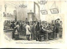 Amérique du Nord Maison de Jeu dans la Ville du Colorado USA GRAVURE 1866