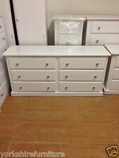 HAND MADE LARGE 6 DRAWER CHEST WHITE, IVORY, BLACK NO FLAT PACKS ASSEMBLED
