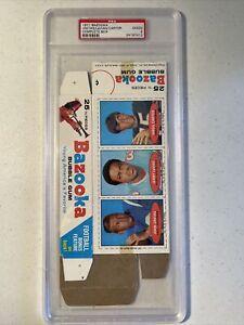 1971 Topps Bazooka Football Complete Box Johnny Unitas PSA 2 VERY RARE HOF