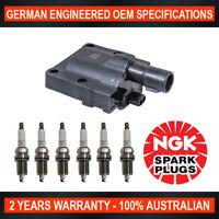 6x Genuine NGK Spark Plugs & 1x Ignition Coils for Toyota 4 Runner VZN130