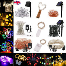 Solar & Battery LED  Fairy String Lights Wedding Party Decor Lamps 12V Adapter