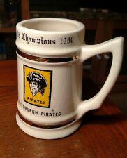1960 World Champions Pittsburgh Pirates Ceramic Stein Rare Bucs Clemente