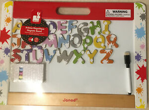 Janod Magnetic Chalkboard Set, Whiteboard+Magnetic  ABC Letters!!!