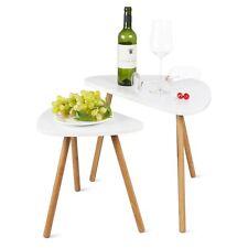 2 X side table Coffee tea table Triangle desk Timber modern home Furniture Decor