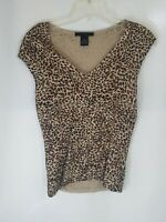 The Limited Womens Small Tank Sleeveless Shirt Top Cheetah Animal Print Preowned