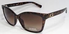 GUESS GF0300 52F Ladies Tortoise Brown Frame Brown Lens Designer Sunglasses NEW