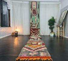 Moroccan Boujaad Handmade Runner Rug 2'4x19'1 Berber Abstract Colorful Wool Rug
