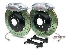 Brembo Front GT BBK Brake 4pt Caliper Silver 328x28 Drill Disc Elise Exige 05-11