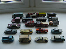 Trabajo Vintage Lote De Juguetes Diecast Lesney Matchbox Serie 1-75 (ruedas regulares) × 20