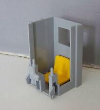 PLAYMOBIL (Q3135) CHANTIER - Partie de a Cabine avec Siège de la Grue 3262 4080