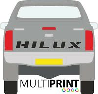 1x  TOYOTA HILUX TAILGATE TRUCK CAR VINYL CUSTOM STICKERS / DECALS GRAPHICS TOY3