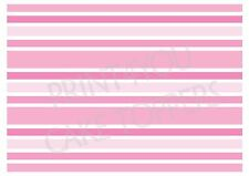 Edible icing topper A4 sheet music musical sheets NWP04 Pink stripes