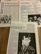 Waysted, Lot of THREE Full Page Vintage Clippings