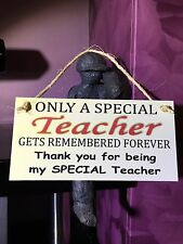 FRIENDSHIP PLAQUE SIGN SPECIAL SCHOOL TEACHER GIFT SHABBY CHIC LEAVING PRESENT