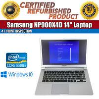"""C Grade Samsung NP900X4D 15.6"""" Intel i5 8GB RAM 128GB SSD Win 10 WiFi USB Laptop"""