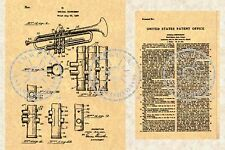 US Patent for a SELMER TRUMPET Brass Instrument ~ Henri Selmer 1939 PM#101
