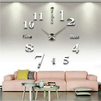 Quartz Clocks Wall Watches 3d Big Mirror Watch DIY Fashion Living Room Clock New