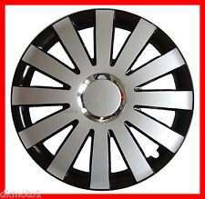 "15'' Hub Cups 4x15"" WHEEL TRIMS for FORD FOCUS MONDEO GALAXY S-MAX black/silver"