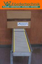 Transportband, Rollenbahn 1500 x 430 mm mit Leichtlaufrollen für 8 kg Pakete
