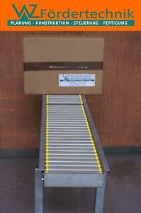 Transportband, Rollenbahn 1500 x 430mm Leichtlaufrollen mit Kugellager, Pakete