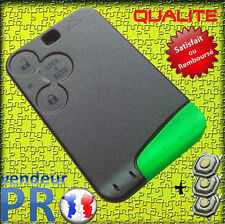 ★★★ Coque PLIP Carte Renault LAGUNA VEL SATIS ESPACE Clé 3 Boutons ★★★