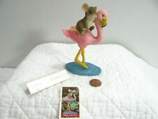 Charming Tails High And Dry Mouse Riding Pink Flamingo Figurine 82/112 Boxed Le