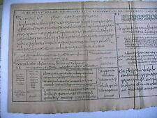 litho ancienne 1750 écriture cursine gallicane mérovingienne traité diplomatique