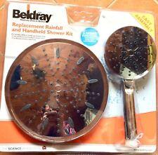 Beldray Replacement Rainfall Shower Head & 5 Spray Message Head Hose Set, Chrome
