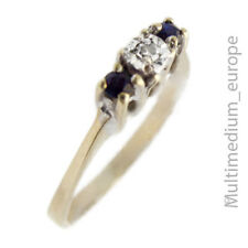 Vintage 333 Gelbgold Ring Diamant Saphir 8ct Gold diamond sapphire 🌺🌺🌺🌺🌺
